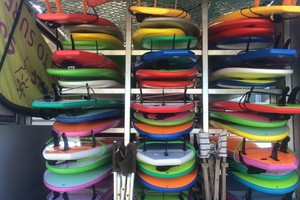 surfboard hire at Middleton surf school