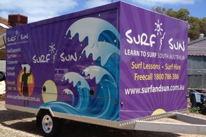 surf and sun truck to serve surfing clients for surf lessons Australia