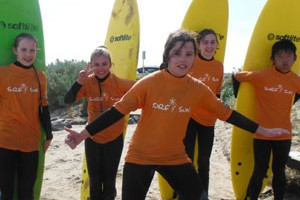 kids engage in surf lessons activities