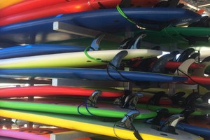 Surf boards for surf lessons - surf shop Middleton