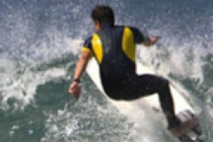 great surfer in action