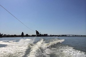 water surf skiing in Goolwa