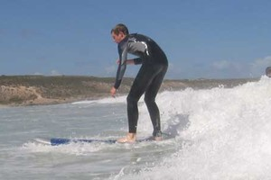 surfing in Middleton coast