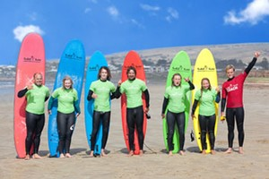 surfboard hire for surfing lessons